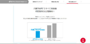ドコモユーザー様は月額780円(税抜)